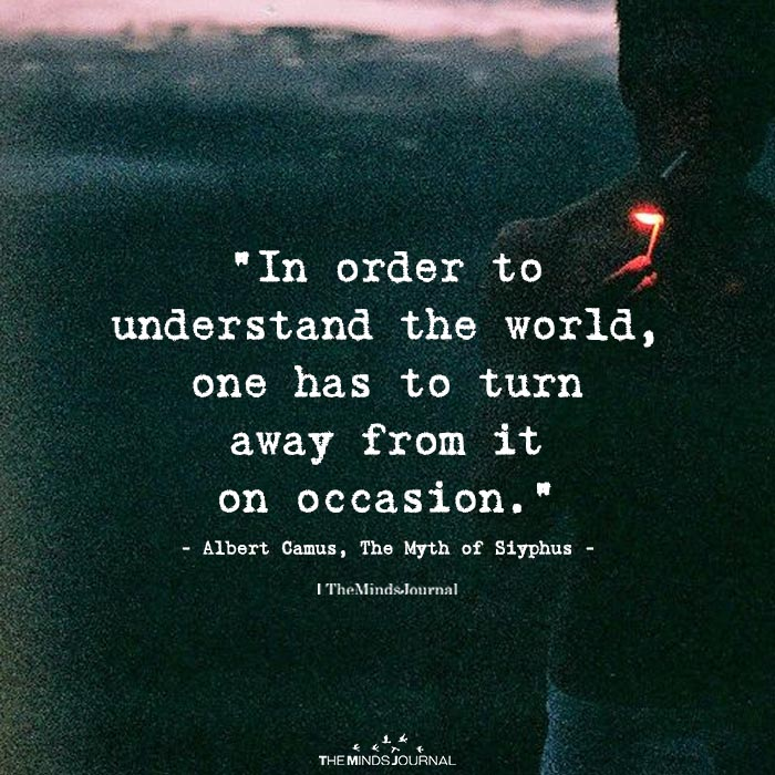In Order To Understand The World