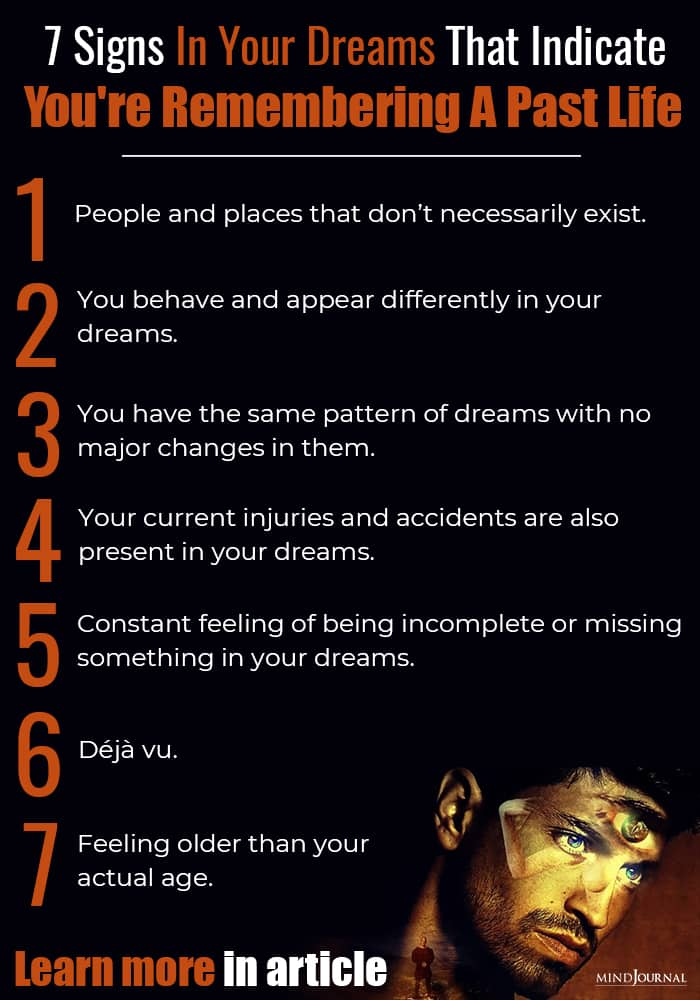 Signs Dreams Indicate Remembering Past Life infographics