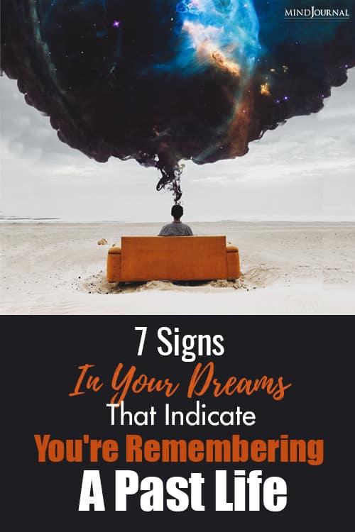 Signs Dreams Indicate Remembering Past Life pin