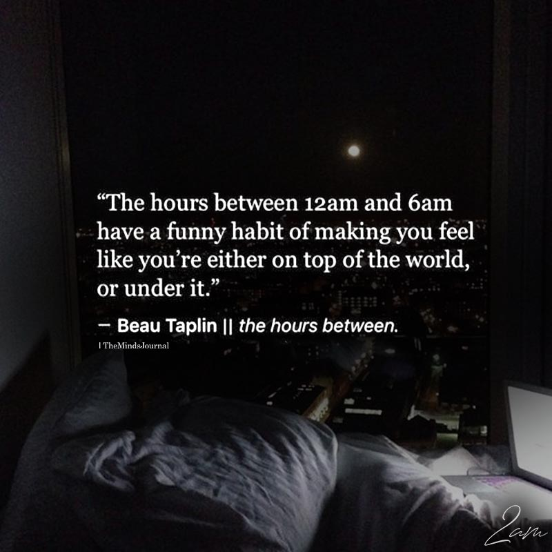 The Hours Between 12 Am And 6 Am Have Funny Habit
