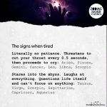 The Signs When Tired