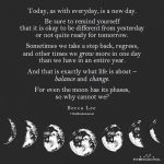 Today, As With Everyday, Is A New Day