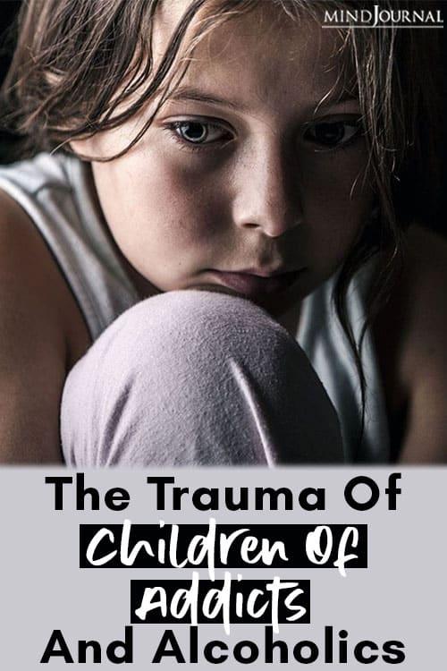 Trauma Children Addicts Alcoholics pin