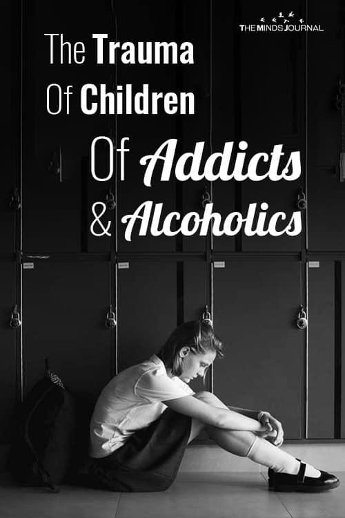 Trauma of Children Of Addicts Alcoholics pin