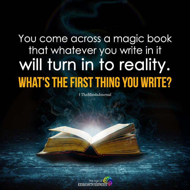 You Come Across A Magic Book