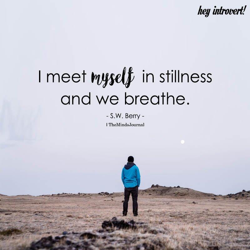 I Meet Myself In Stillness