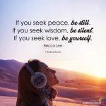 If You Seek Peace, Be Still