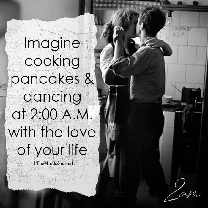 Imagine Cooking Pancakes & Dancing