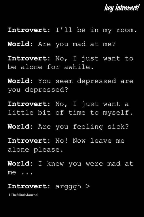 Introvert I'll Be In My room