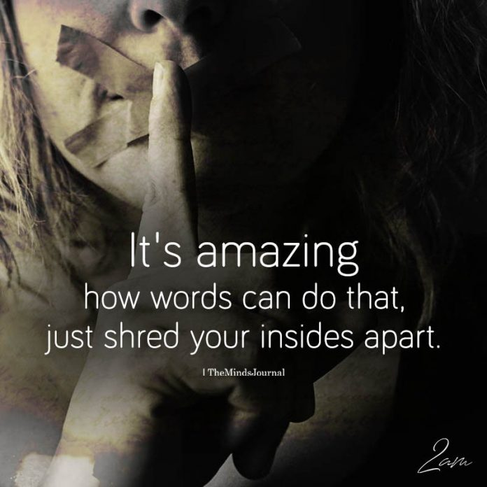 It's Amazing How Words Can Do That