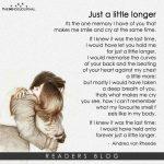Just a little longer