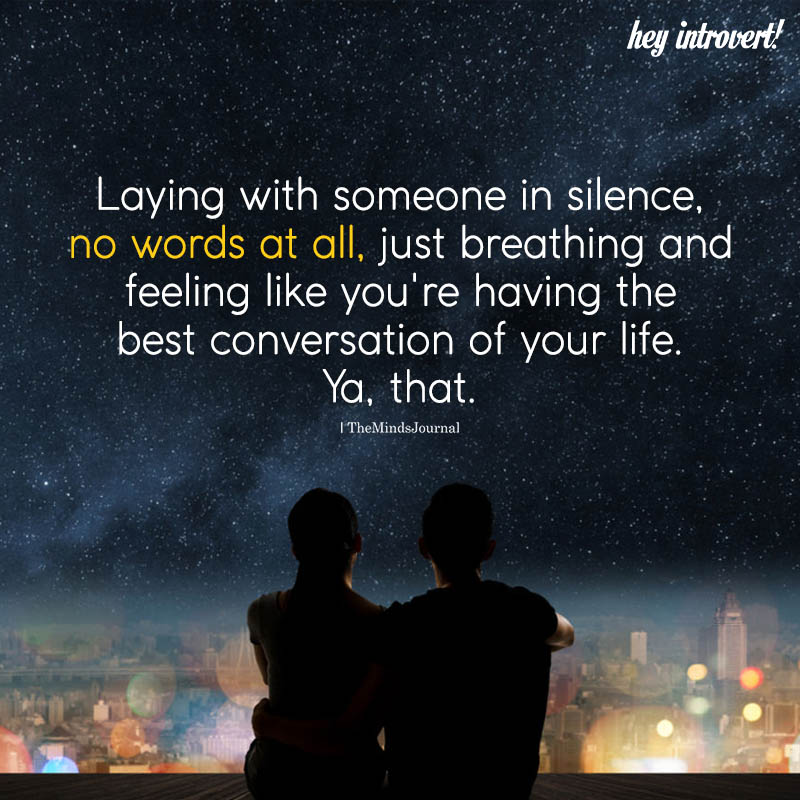Laying With Someone In Silence