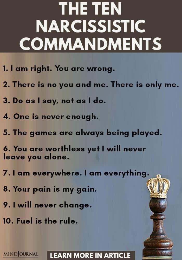 Ten Narcissistic Commandments info