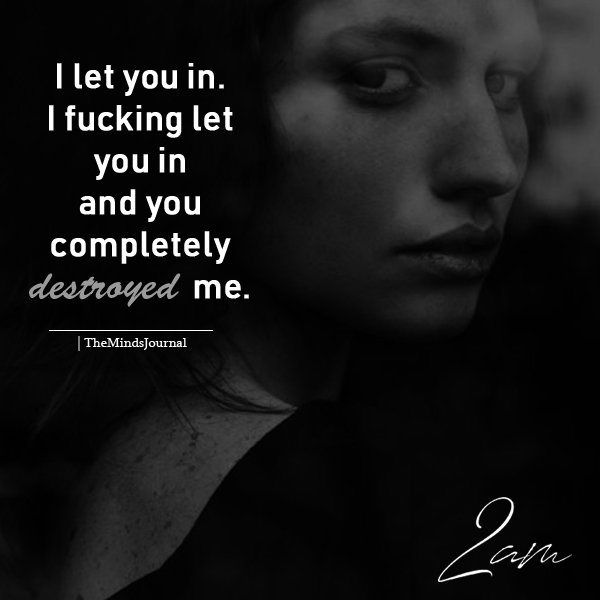 I Let You In