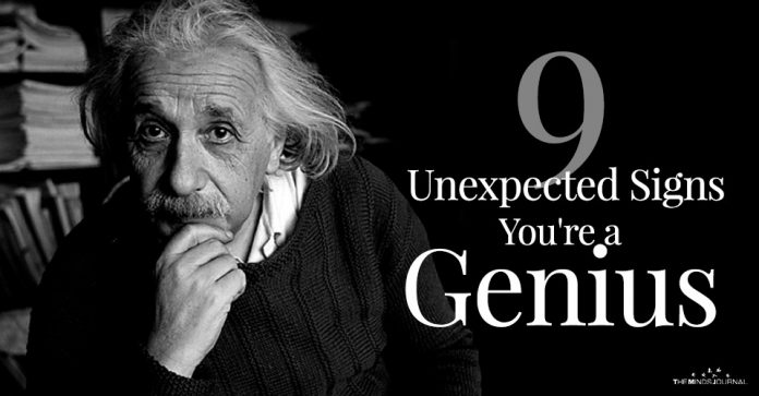 signs you are genius