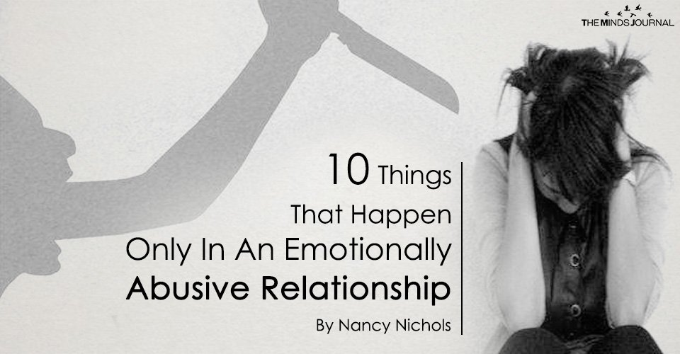 10 Things That Happen Only In An Emotionally Abusive Relationship