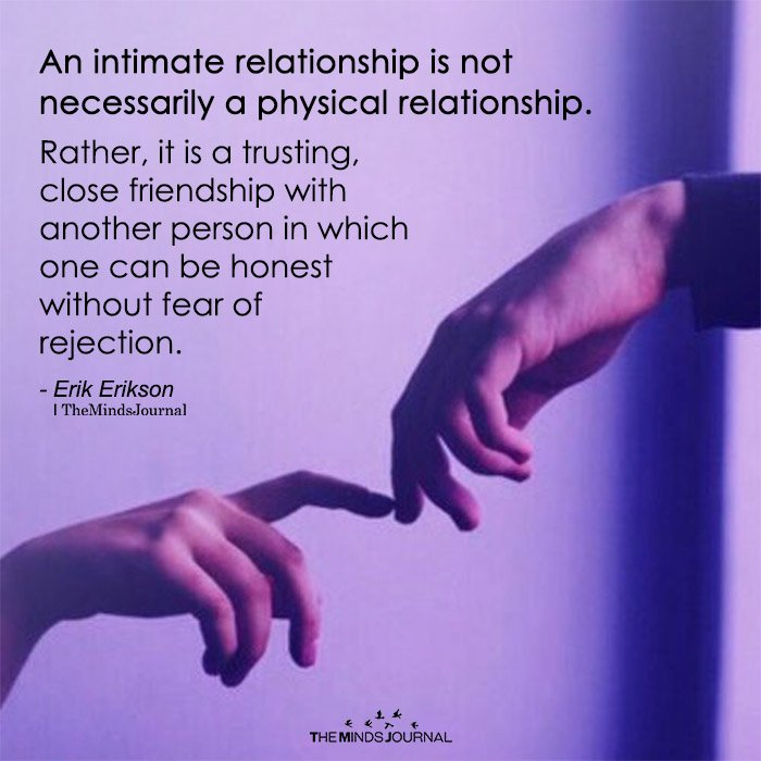 An Intimate Relationship Is Not Necessarily A Physical Relationship