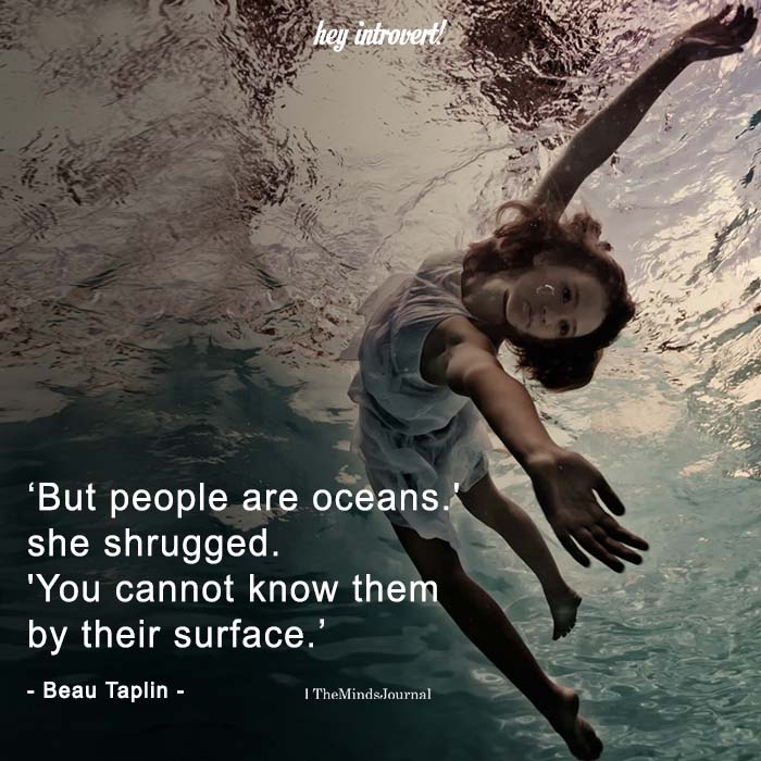 But people are oceans. She Shrugged