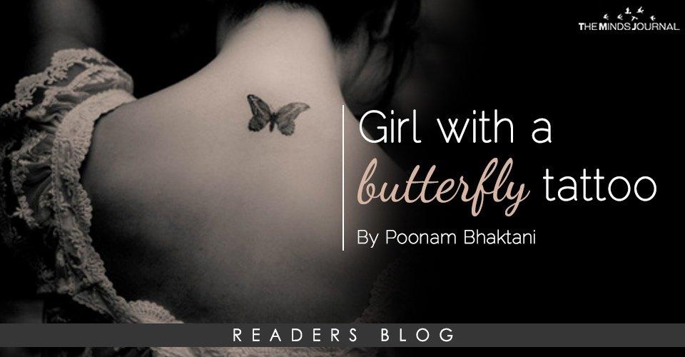 a46feba80694a Girl with a butterfly tattoo