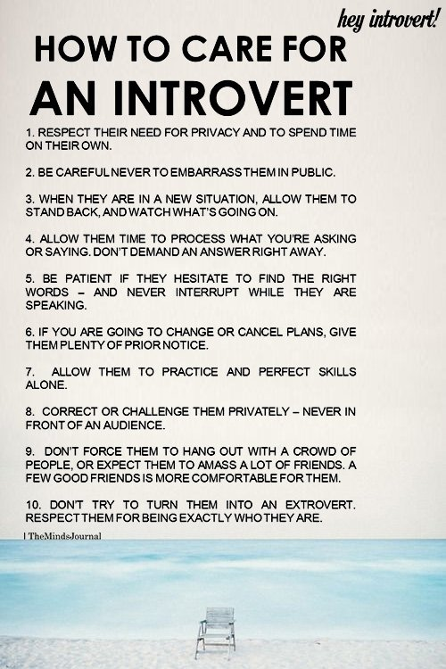 How To Care For An Introvert