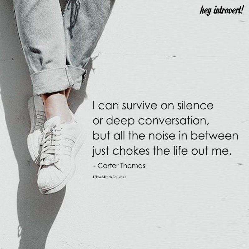I Can Survive On Silence