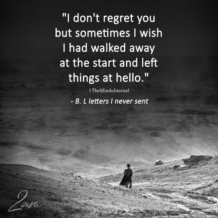 I Don't Regret You