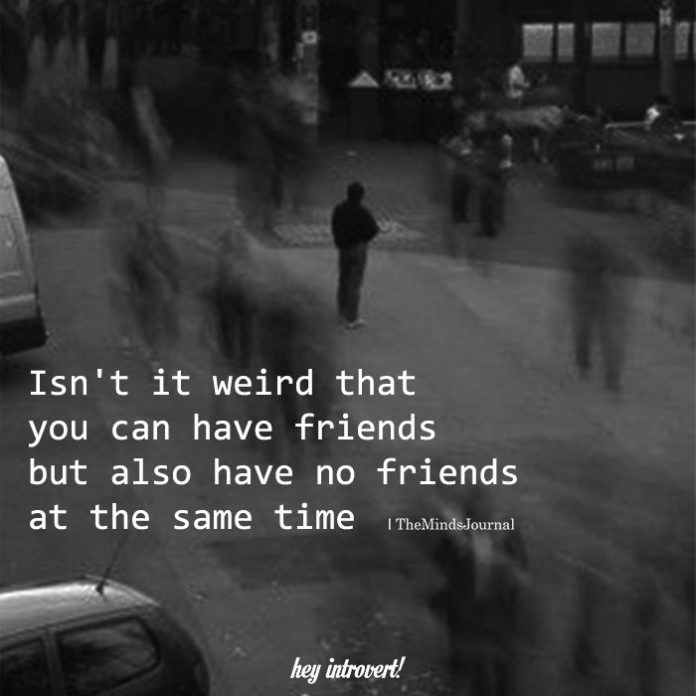 Isn't It Weird That You Can Have Friends