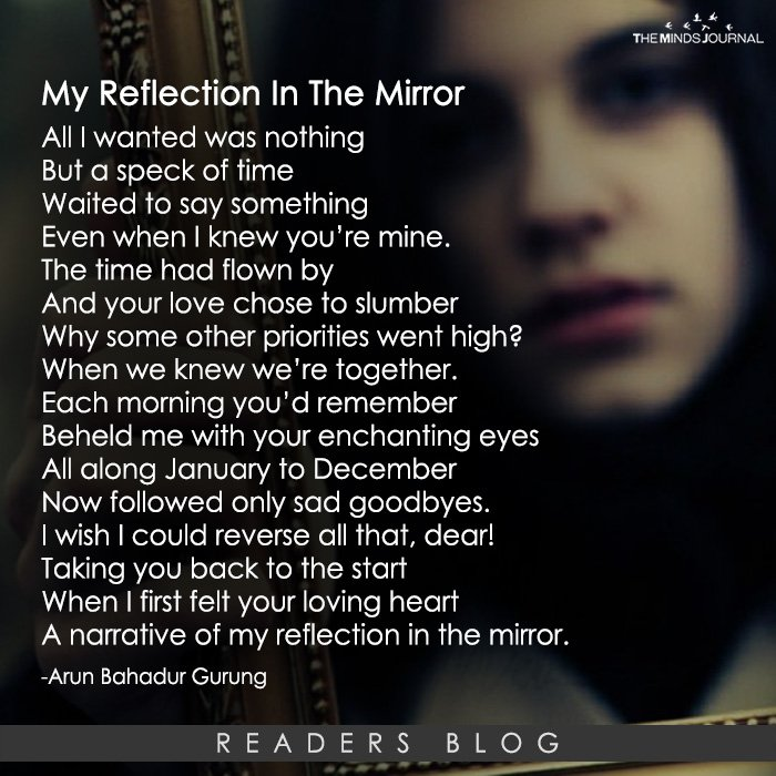 My Reflection In The Mirror