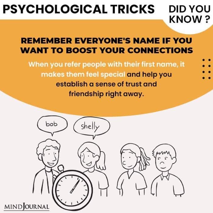 Psychological Tricks Dealing People boost connection