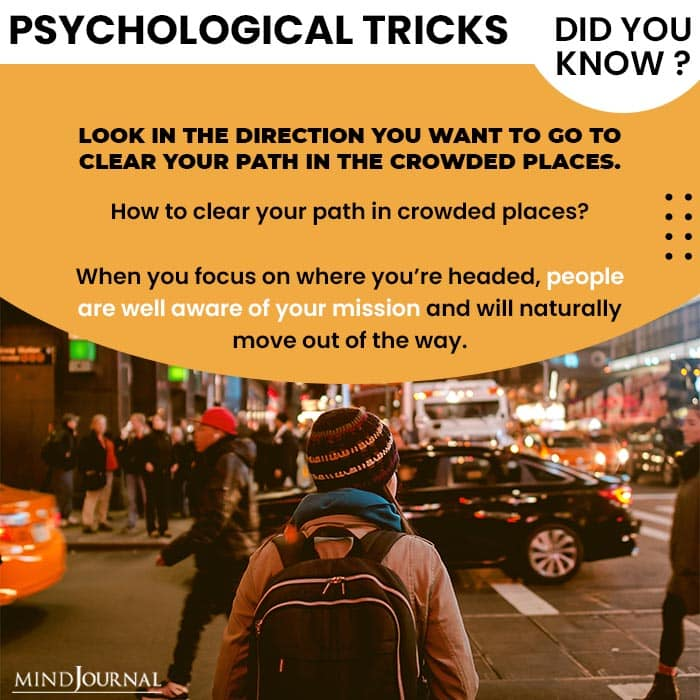 Psychological Tricks Dealing People look direction want to go