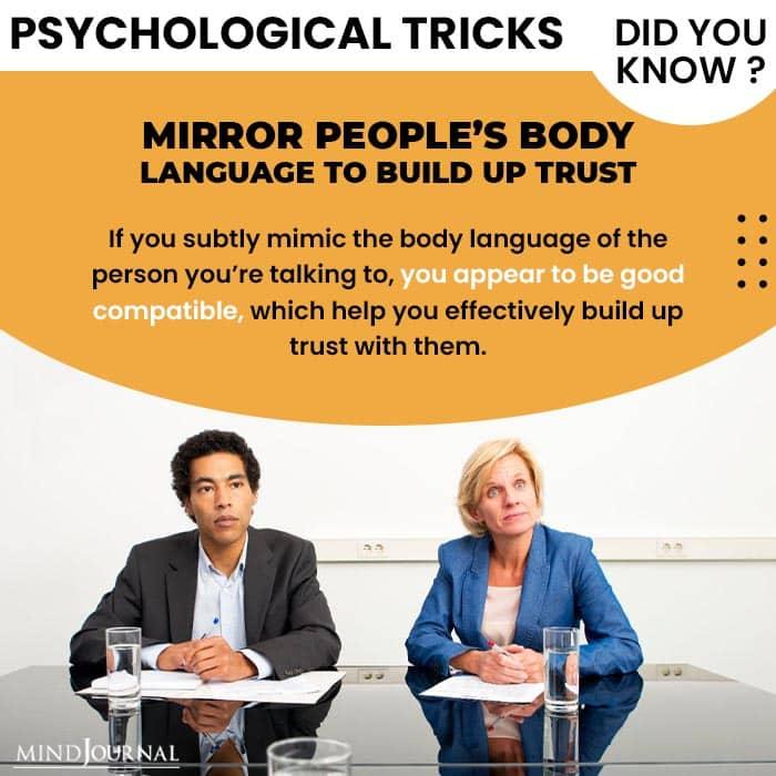 Psychological Tricks Dealing People mirror people body lang