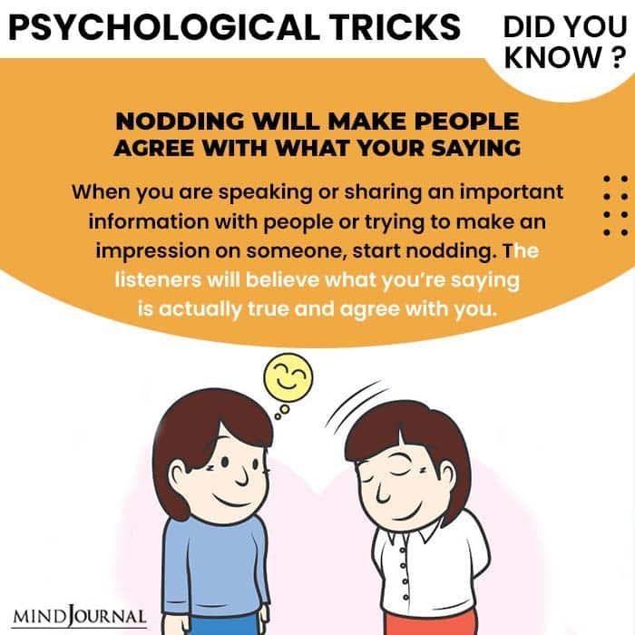 Psychological Tricks Dealing People nodding people