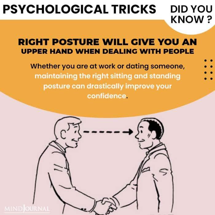 Psychological Tricks Dealing People right posture