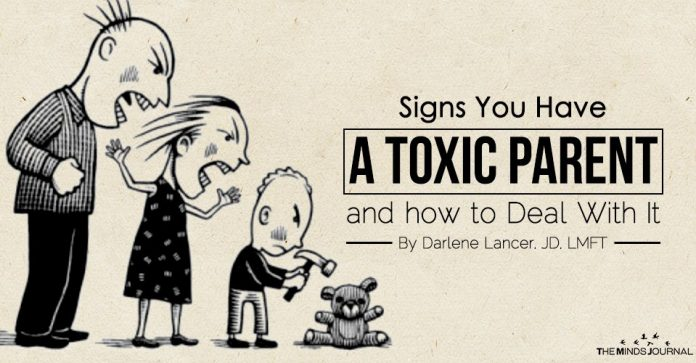 Signs You Have A Toxic Parent and How To Deal With It