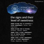 The Signs And Their Level Of Sweetness