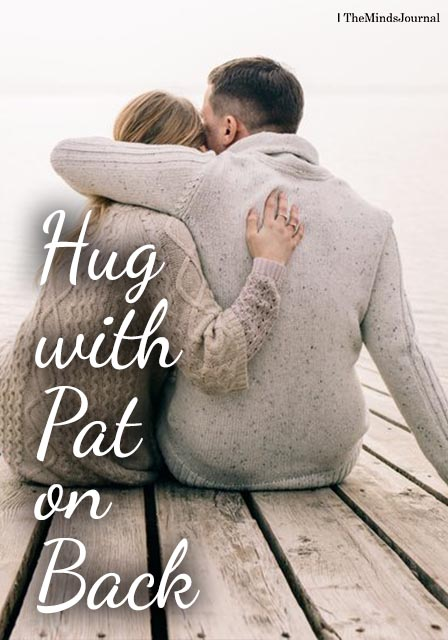 The hug with a pat on the back