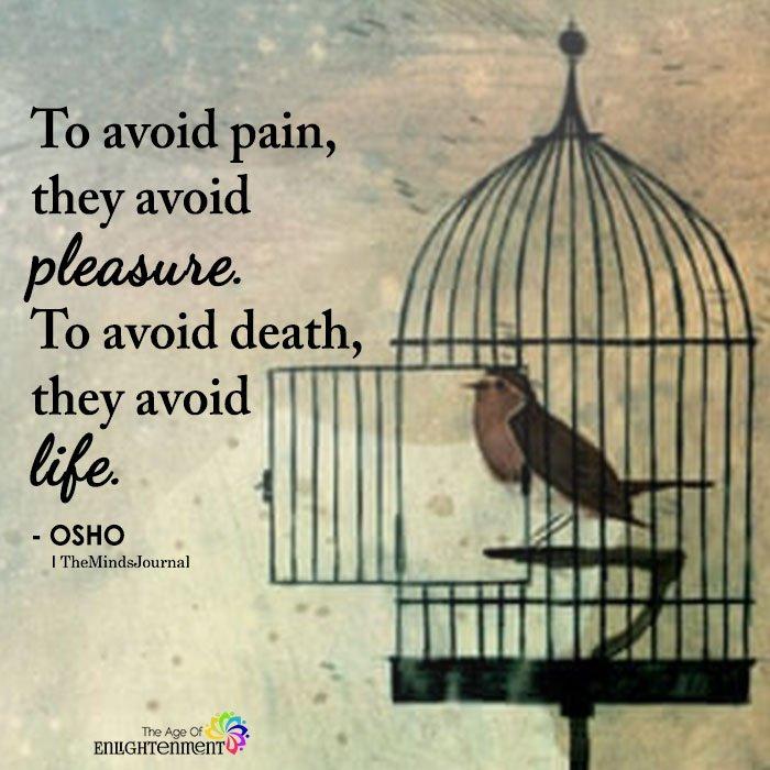 To Avoid Pain, They Avoid Pleasure