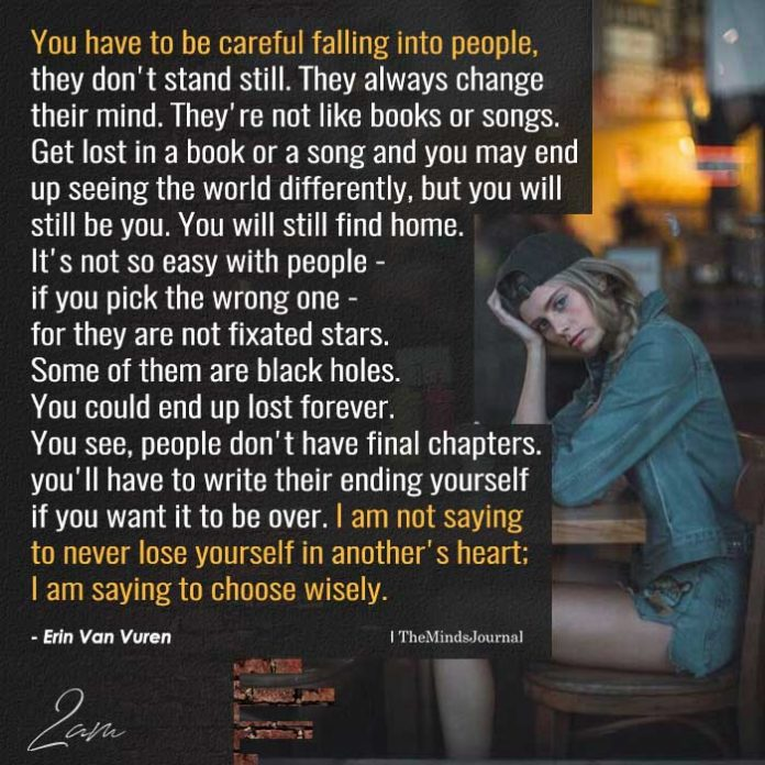You Have To Be Careful Falling Into People