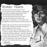 Broken Hearts: I Know You've Lost Someone And It Hurts