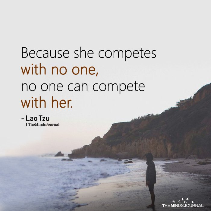 Because She Competes With No One