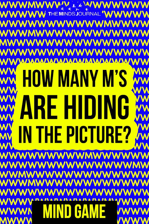 How Many M's Are Hiding In The Picture The Majority Of People Can't Solve This In One Go