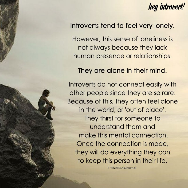 Introverts Tend To Feel Very Lonely