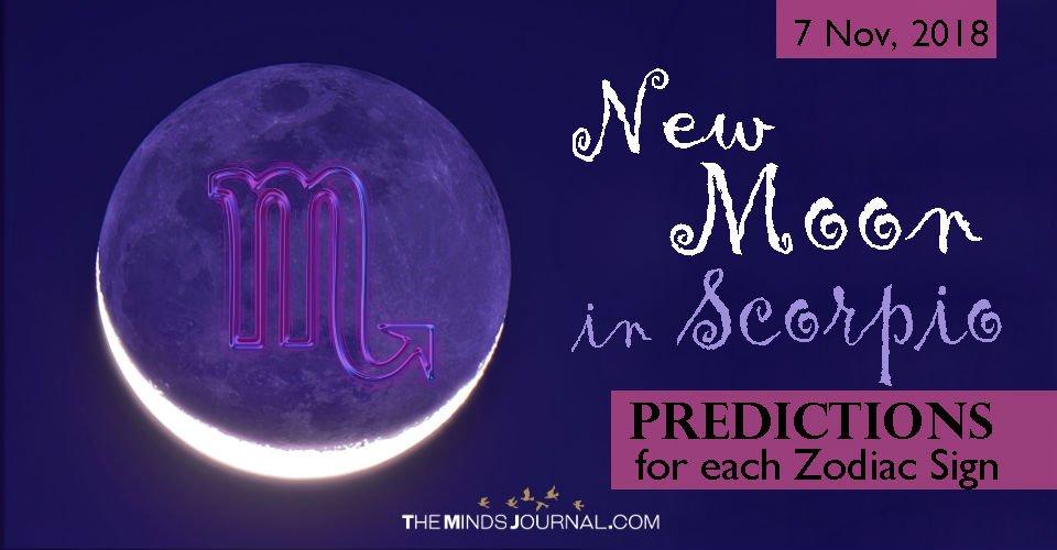 New Moon in Scorpio, November 7 2018 - Predictions for each Zodiac Sign