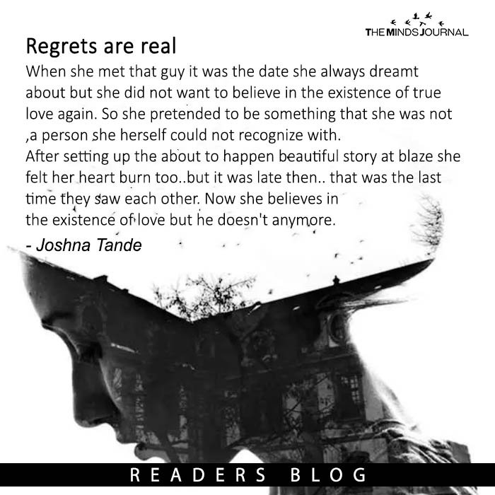 Regrets are real