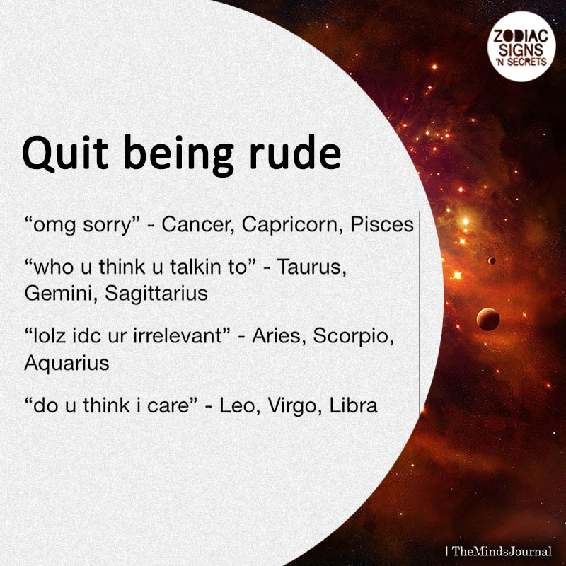 Signs on 'Quit Being Rude'