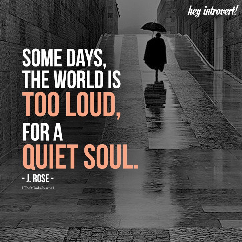 Some Days, The World Is Too Loud