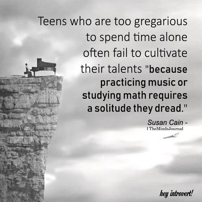 Teens Who Are Too Gregarious To Spend Time Alone