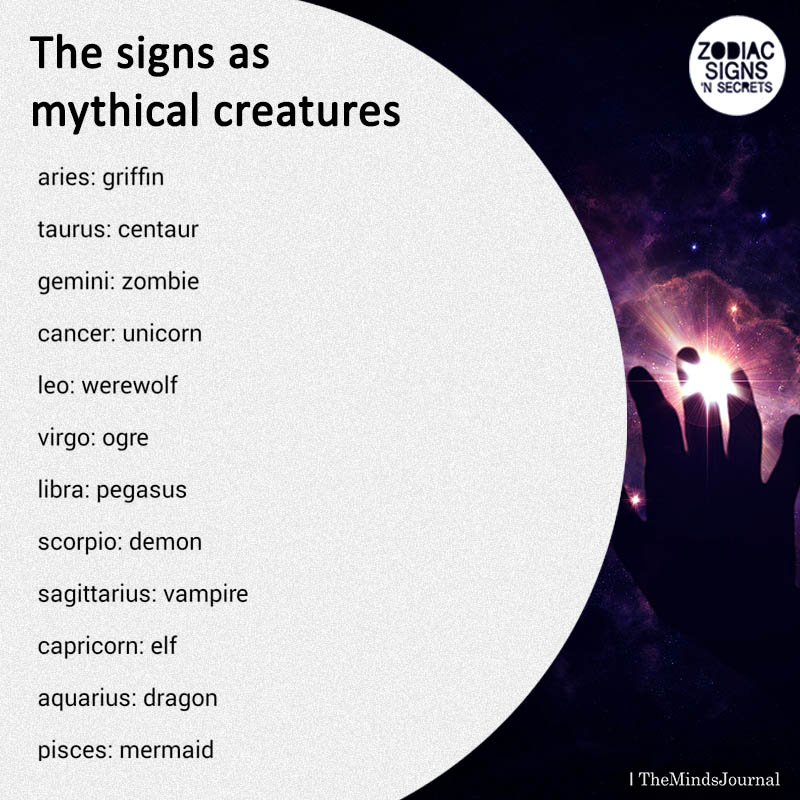 The Signs As Mythical Creatures