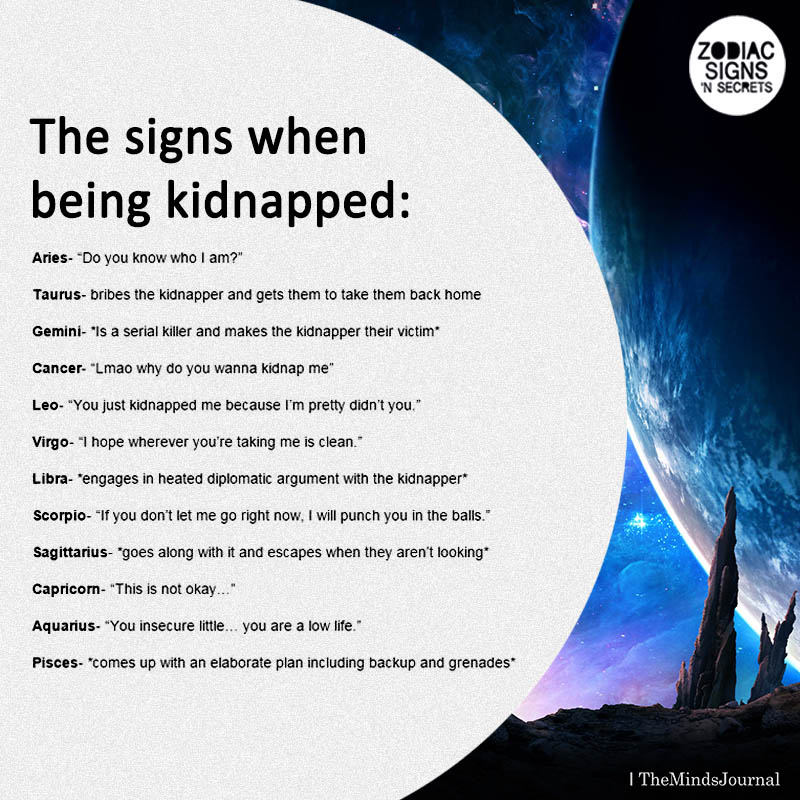 The Signs When Being Kidnapped