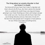 The Thing About An Anxiety Disorder Is That You Know It Is Stupid.